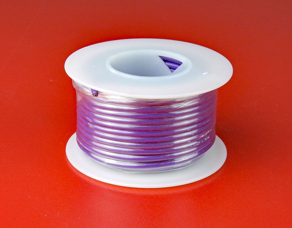 18 GA. PURPLE HOOK-UP WIRE, SOLID 25'