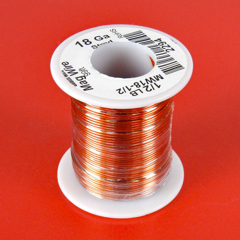 18 AWG MAGNET WIRE, 1/2 LB ROLL