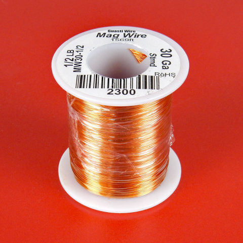 30 AWG MAGNET WIRE, 1/2 LB ROLL