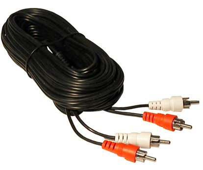 25' DUAL SHIELDED RCA AUDIO CABLE