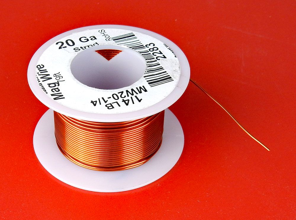 20 AWG MAGNET WIRE, 1/4 LB ROLL