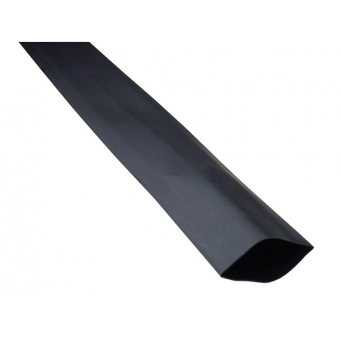 "1"" X 4' HEATSHRINK TUBE, BLACK"
