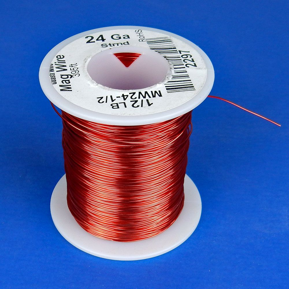 24 AWG MAGNET WIRE, 1/2 LB ROLL