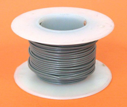 24 GA GREY HOOK-UP WIRE, STRANDED 25'