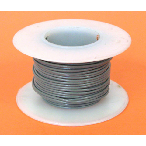 24 GA. GREY HOOK-UP WIRE, SOLID 25'