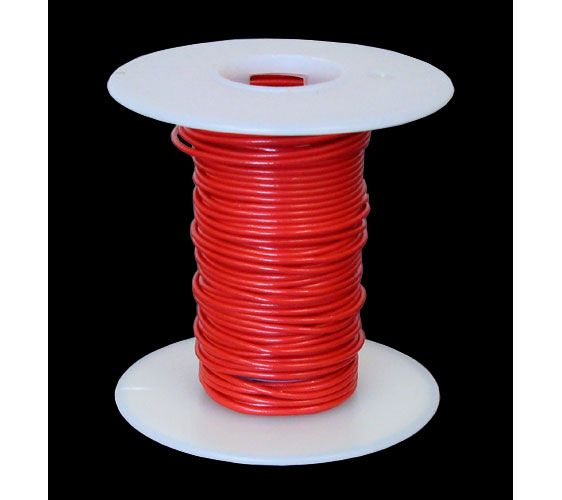 24 GA. RED HOOK-UP WIRE, SOLID 25'