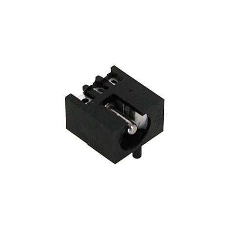 2.5MM COAX JACK W/SHUNT, PC MOUNT