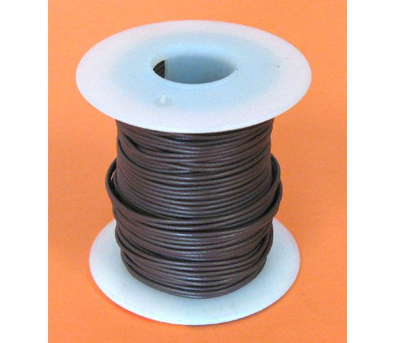24GA. BROWN HOOK-UP WIRE, STRANDED, 100'
