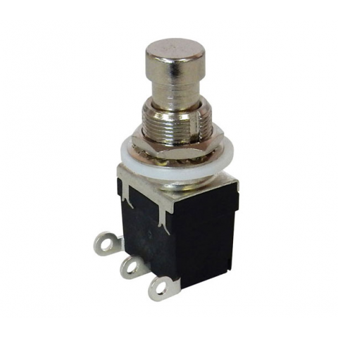 SPDT ON-ON MONENTARY METAL PUSH BUTTON
