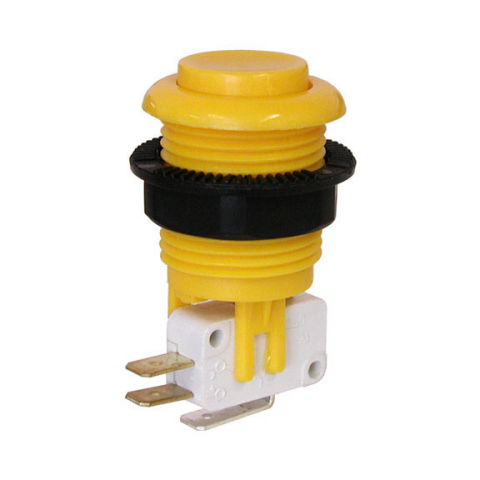 JUMBO PUSHBUTTON, YELLOW