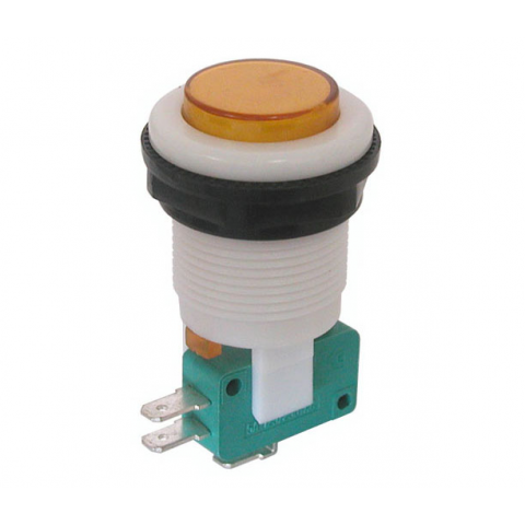 SPDT MOMENTARY PUSHBUTTON, AMBER BUTTON