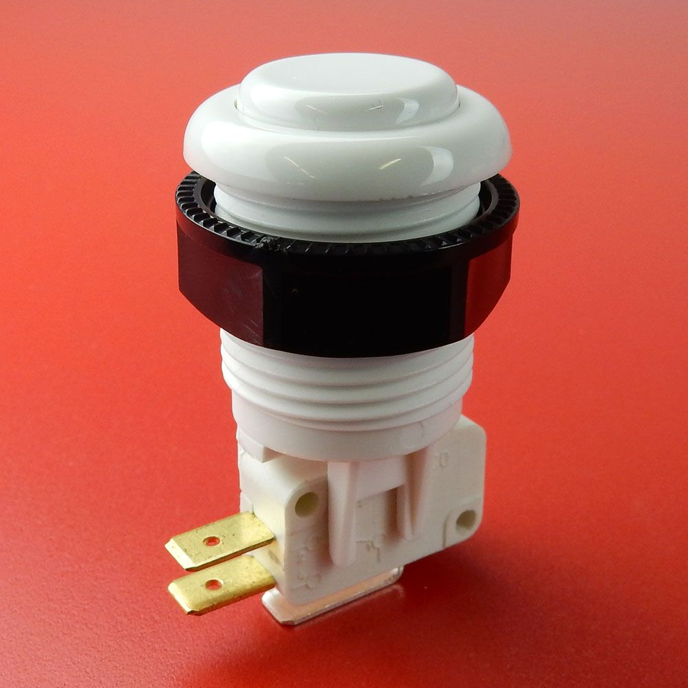JUMBO PUSHBUTTON, WHITE