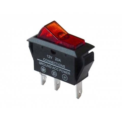 on-off 12v lighted rocker switch