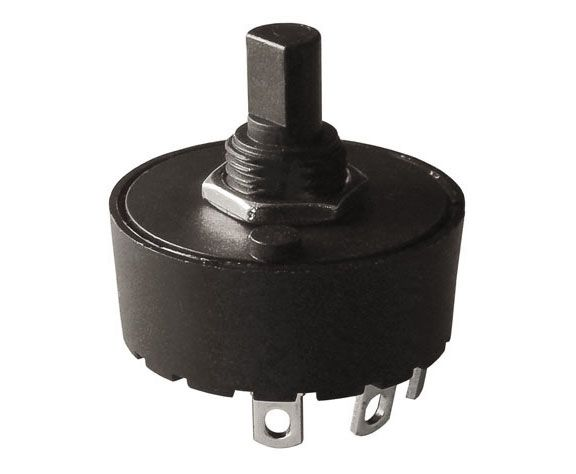 3-POSITION 10 AMP ROTARY SWITCH