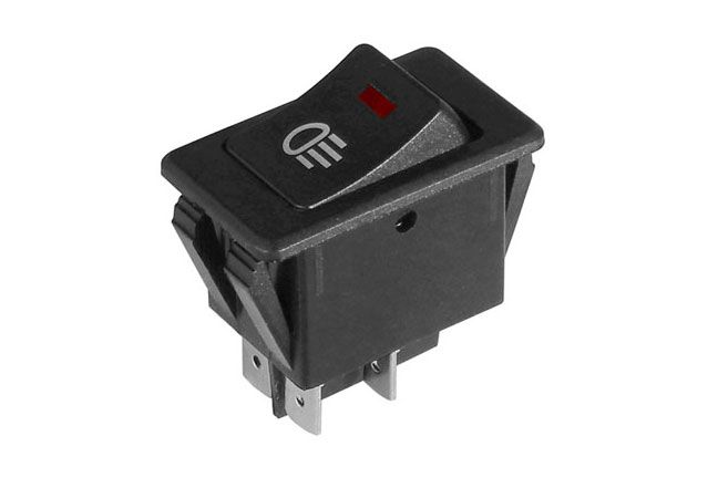 TWO-POLE 12VDC LIGHTED ROCKER SWITCH