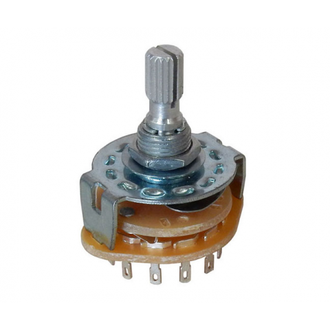 2 POLE 6 POSITION ROTARY SWITCH