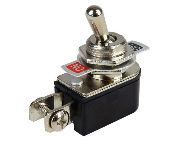 SPST ON-OFF TOGGLE SWITCH W/ SCREW TERMINALS