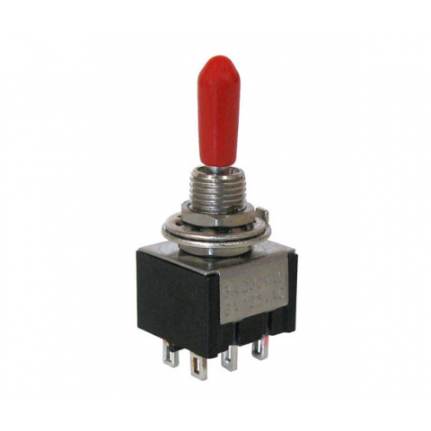 DPDT ON-OFF-(ON) MINI-TOGGLE SWITCH