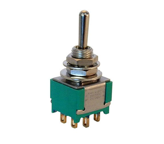 DPDT, CENTER-OFF MINI-TOGGLE SWITCH