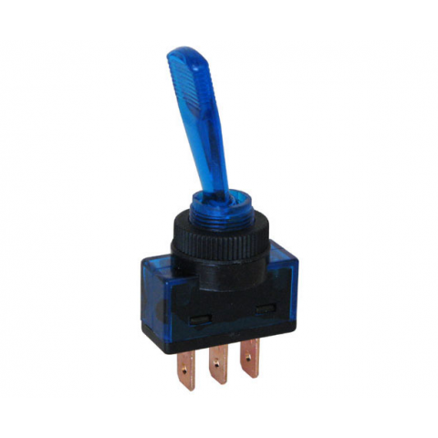 12 VDC ON-OFF LIGHTED TOGGLE SWITCH, BLUE