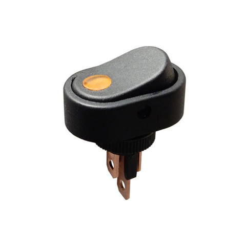 SPST LIGHTED ROCKER SWITCH, AMBER