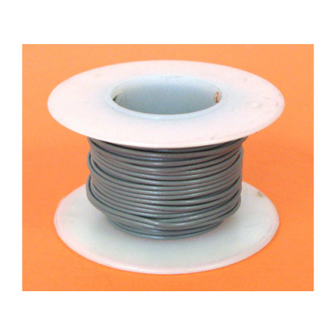 22 GA. GREY HOOK-UP WIRE, SOLID 25'