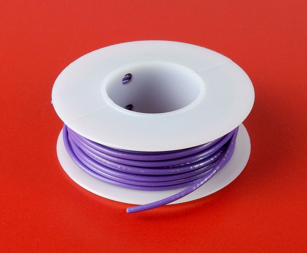 22 GA. PURPLE HOOK-UP WIRE, STRANDED 25'