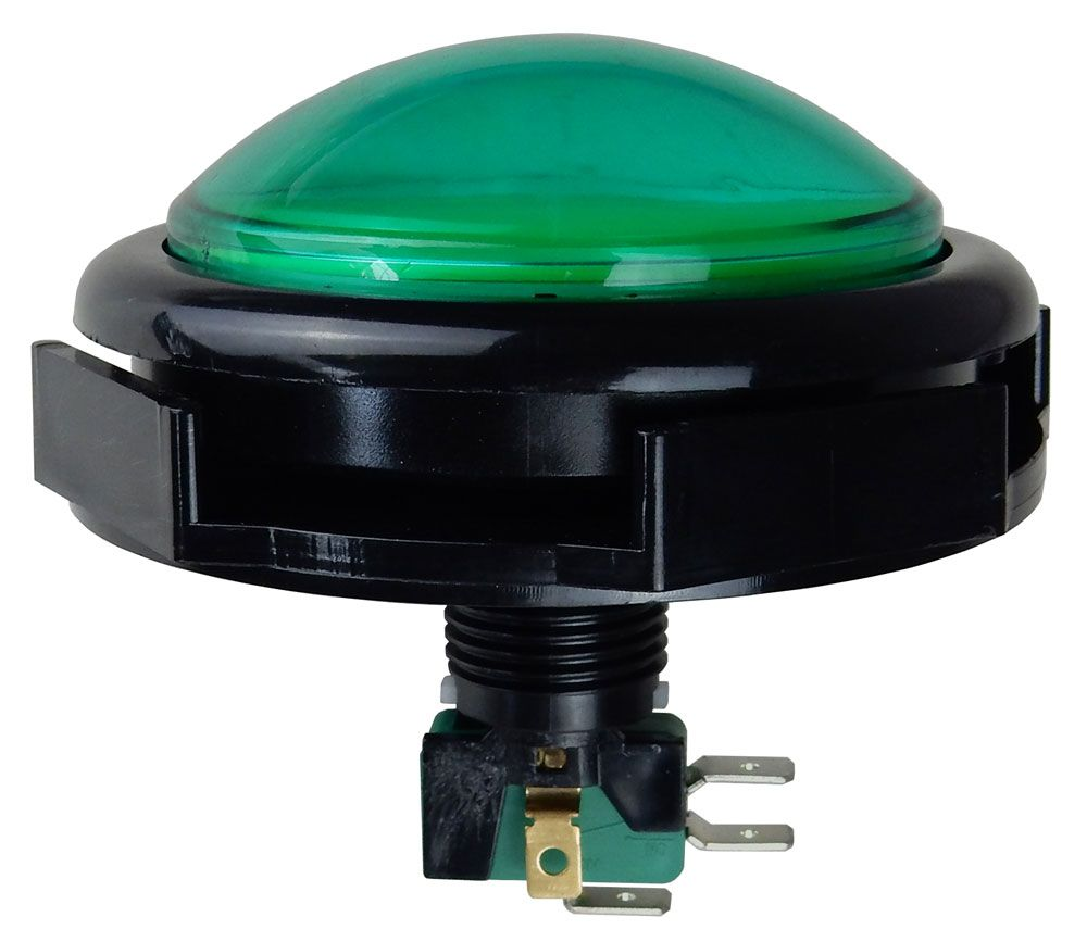 GIANT GREEN PUSH-BUTTON SWITCH W/ 12VDC LIGHT