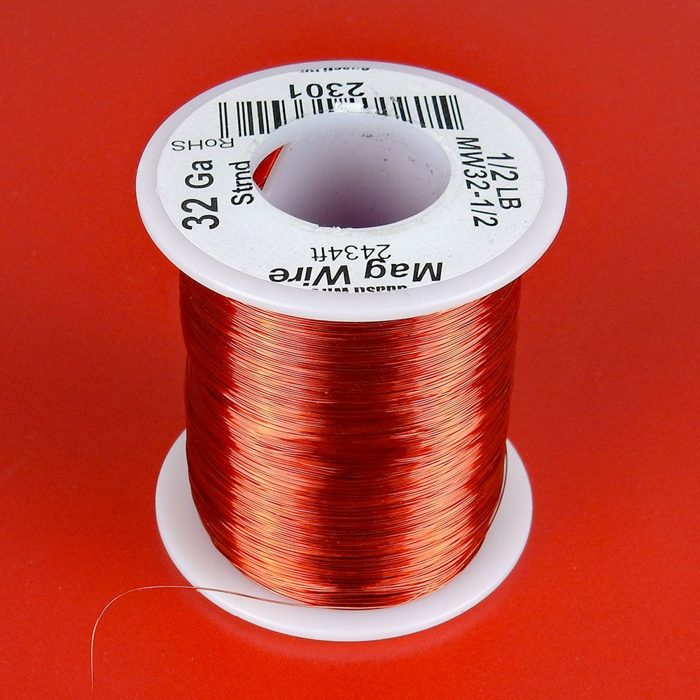 AWG 32 MAGNET WIRE, 1/2 LB ROLL