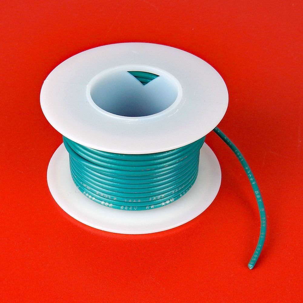 18 GA GREEN HOOK UP WIRE, SOLID 25'