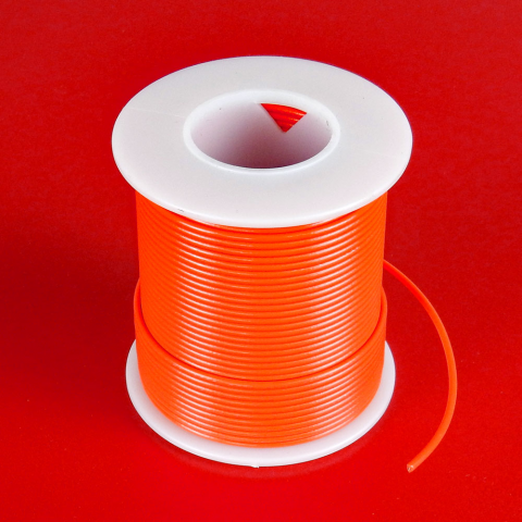 22 GA ORANGE HOOK-UP WIRE, SOLID 100'