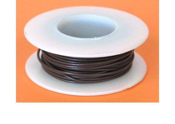 22 GA. BROWN HOOK-UP WIRE, SOLID 25'