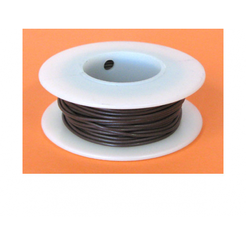 20 GA BROWN HOOK UP WIRE, STR 25'