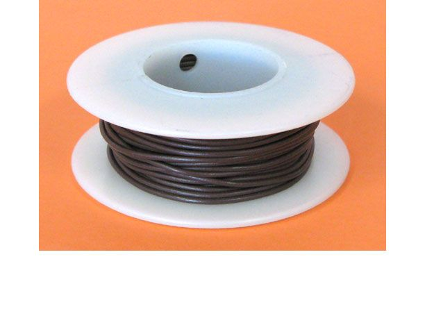 20 GA. BROWN HOOK-UP WIRE, SOLID 25'