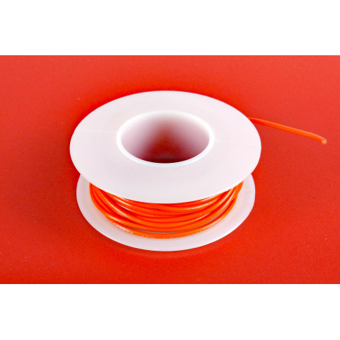 22 GA. ORANGE HOOK-UP WIRE, SOLID 25'