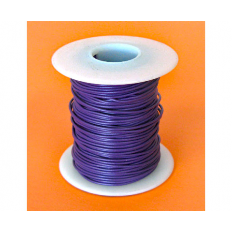 26 GA. PURPLE HOOK-UP WIRE, STRANDED, 100'