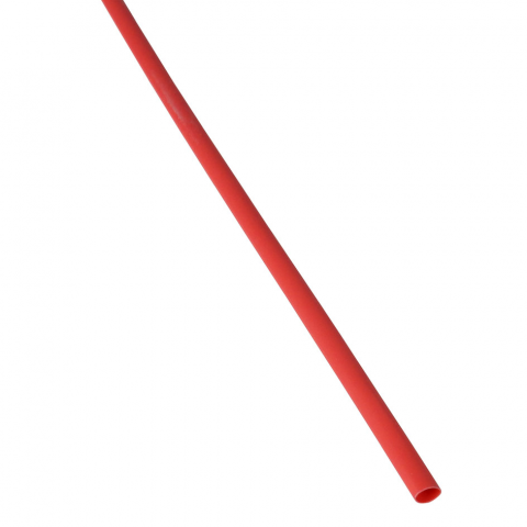 "1/8"" X 4' HEATSHRINK TUBE, RED"