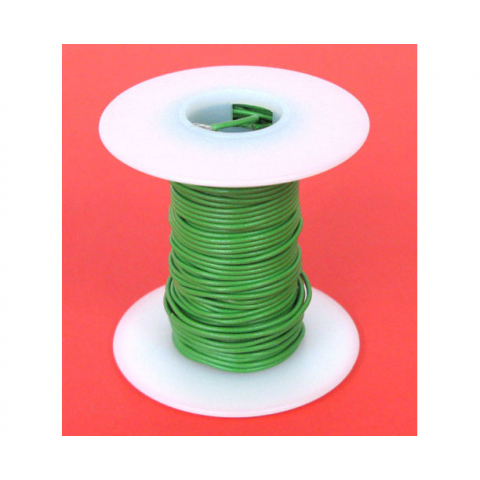 24 GA GREEN HOOK UP WIRE, SOLID 25'