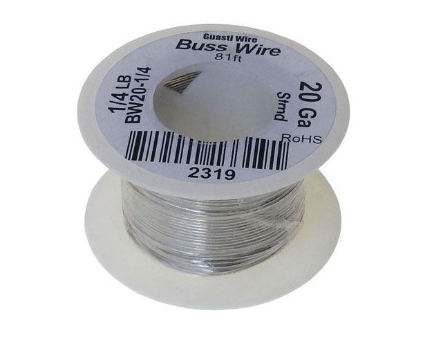 20 GAUGE BUSS WIRE, 1/4 LB ROLL