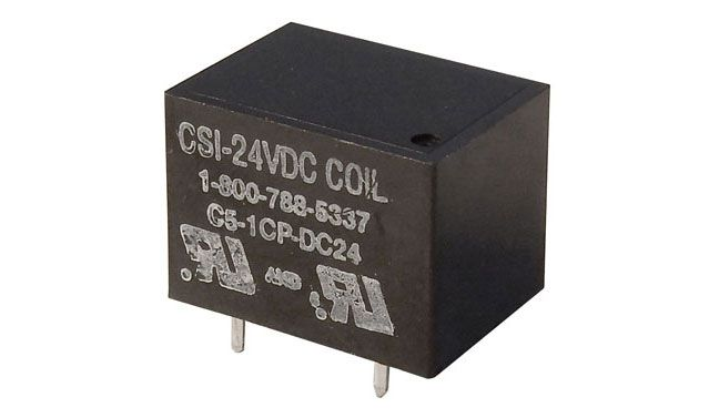 24VDC, SPDT 10A RELAY, PC MT