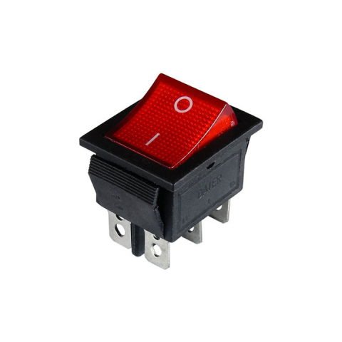 DPDT LIGHTED ROCKER SWITCH, 120VAC