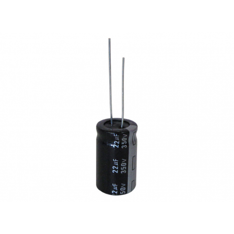 22 UF 350V RADIAL 105C ELECTROLYTIC CAPACITOR