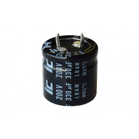 330 MFD, 200V ELECTROLYTIC SNAP-IN CAPACITOR