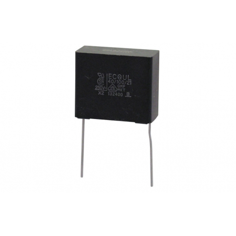 0 1mfd 100v Radial Mylar Capacitor All Electronics Corp
