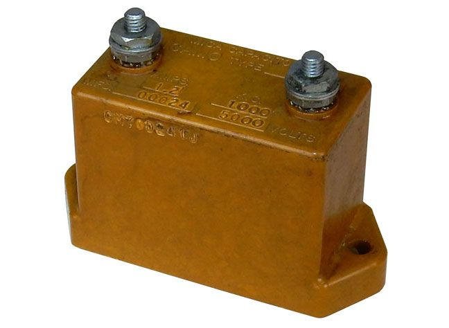 0 00024 uf  5000 volts mica capacitor all electronics corp