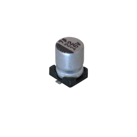 22 UF 16V ELECTROLYTIC CAPACITOR, SURFACE MOUNT