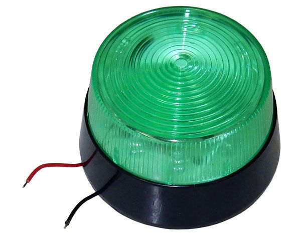 GREEN LED FLASHING LIGHT