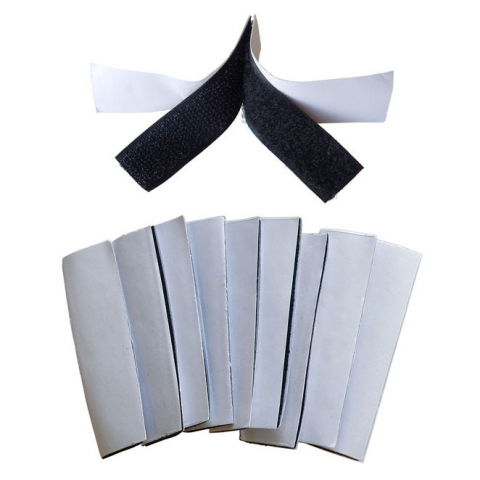 "3"" X 1"" HOOK & LOOP STRIPS, 10 PACK"