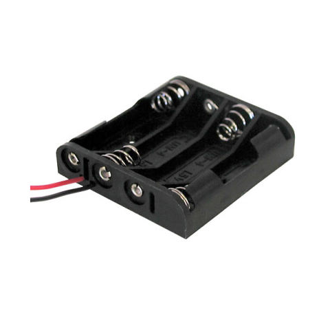 BATTERY HOLDER, 4 AAA CELLS
