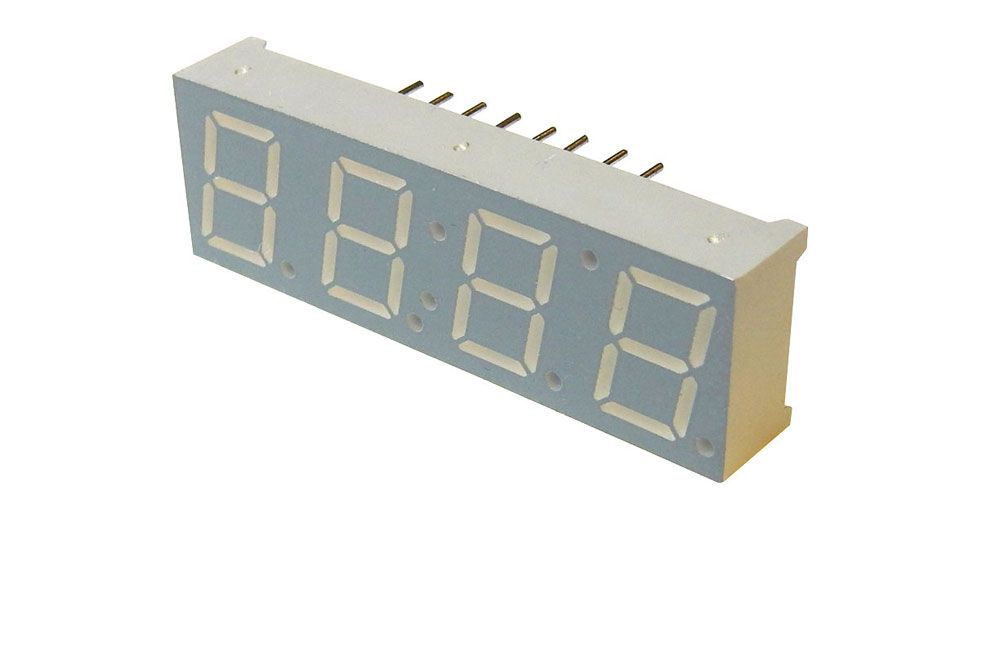 "4 DIGIT RED CLOCK DISPLAY, 0.4"" DIGITS"